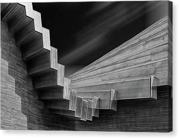 Sky Line Canvas Print - A Roof By Calatrava by Luc Vangindertael (lagrange)