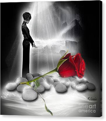 A Rose For Whitney - Fantasy Art By Giada Rossi Canvas Print