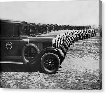 A Row Of Graham Automobiles Canvas Print by Underwood Archives