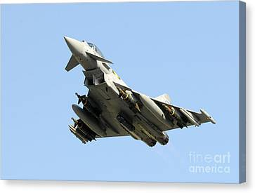 A Royal Air Force Typhoon  Canvas Print by Paul Fearn