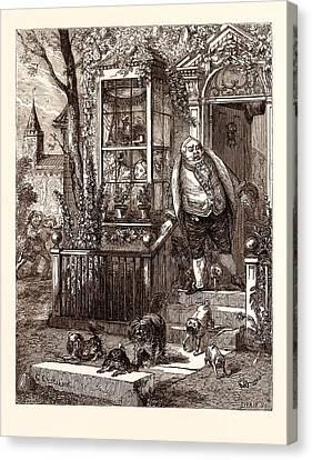 A Runaway Knock, George Cruikshank 27 September 1792  1 Canvas Print