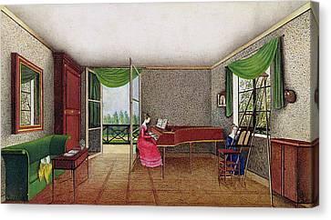 A Russian Interior Canvas Print by Micheline Blenarska