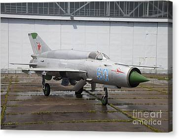 A Russian Mig-21smt Fighter Plane Canvas Print by Timm Ziegenthaler