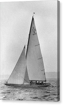 Watercraft Canvas Print - A Sailboat by Toni Frissell