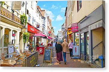 A Salisbury Street Stroll Canvas Print