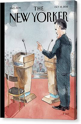 A Scene From The Presidential Debate Canvas Print by Barry Blitt