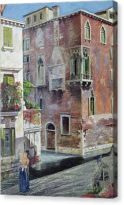 A Scene In Venice Canvas Print by Sir Caspar Purdon Clarke