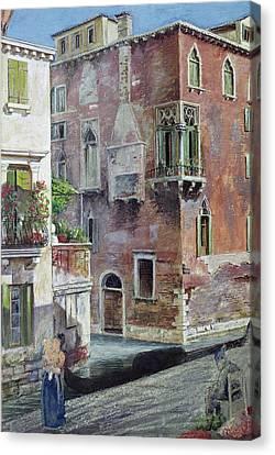 A Scene In Venice Canvas Print