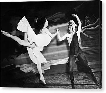 A Scene With The Russian Ballet Canvas Print by Underwood Archives