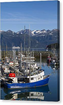Prints Of Alaska Canvas Print - A Scenic Harbor by Tim Grams