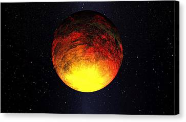 A Scorched World Kepler-10b  Canvas Print by Movie Poster Prints