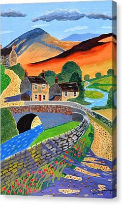 a Scottish highland lane Canvas Print by Magdalena Frohnsdorff