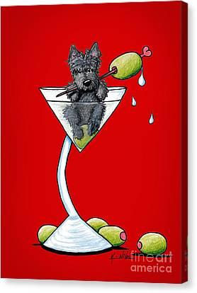 A Scottish Martini Canvas Print by Kim Niles