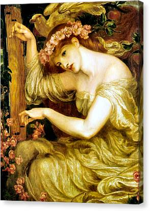 A Sea Spell Canvas Print by Dante Gabriel Rossetti