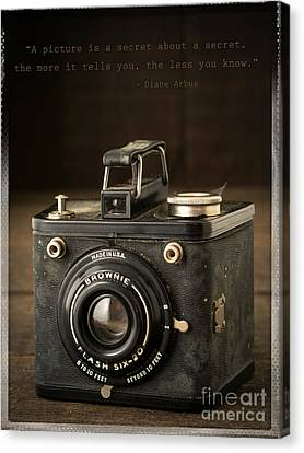 Classic Camera Canvas Print - A Secret About A Secret by Edward Fielding