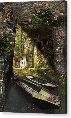 A Secret Place Canvas Print by Debra and Dave Vanderlaan