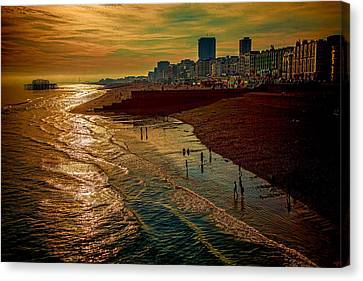 Canvas Print featuring the photograph A September Evening In Brighton by Chris Lord