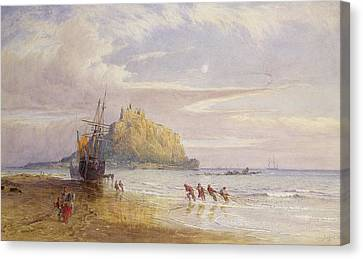 A September Evening, St Michaels Mount, Cornwall Canvas Print by John Mogford