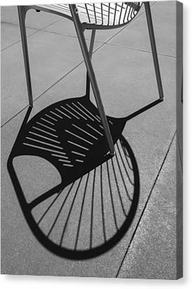 Canvas Print featuring the photograph A Shadow Cast - Abstract by Steven Milner