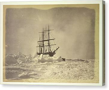 A Ship In The Ice Canvas Print by British Library