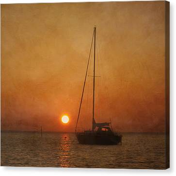 A Ship In The Night Canvas Print by Kim Hojnacki