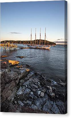 A Ship Canvas Print by Jon Glaser