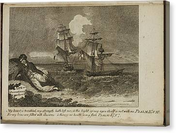 A Shipwreck Scene Canvas Print by British Library