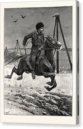 A Siberian Cossack Canvas Print