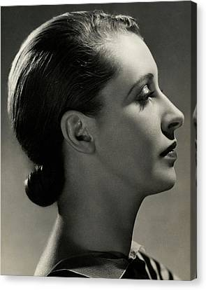 A Side View Of Marion Morehouse Canvas Print by Nickolas Muray
