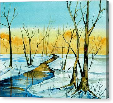 A Sign Of Winter Canvas Print by Brenda Owen