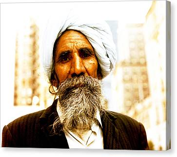 Sikh Art Canvas Print - A Sikh With Traditional Beard by Robert  Rodvik