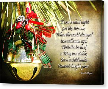 Christian Poetry Canvas Print - A Silent Night Like This One by Lincoln Rogers