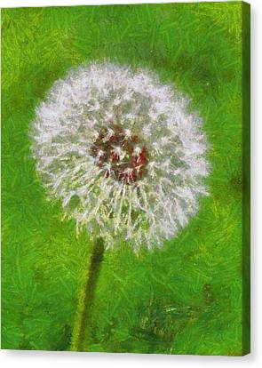 Canvas Print featuring the painting A Simple Beauty by Joe Misrasi