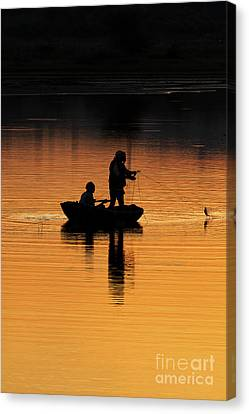 A Simple Catch Canvas Print by Tim Gainey