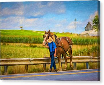 A Simple Life - Paint Canvas Print by Steve Harrington