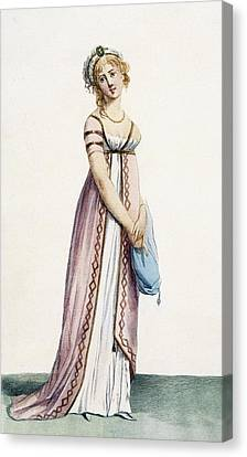 A Simply Designed Ladys Ball Dress Canvas Print by Pierre de La Mesangere