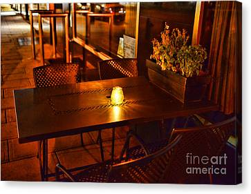 A Single Candle Burns. Canvas Print by Paul Ward