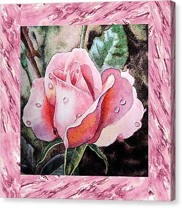 A Single Rose Make Me Pink  Canvas Print