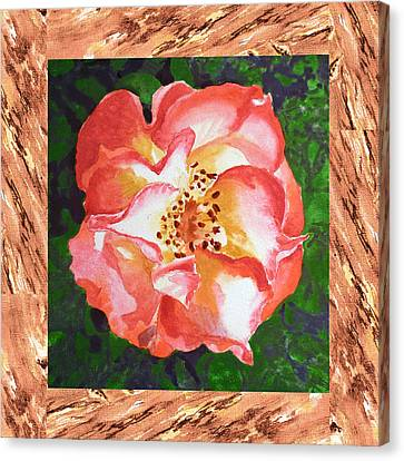 A Single Rose The Dancing Swirl  Canvas Print