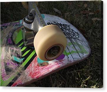 A Skateboard's True Colors Canvas Print by James Rishel