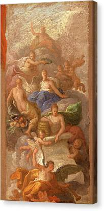 A Sketch Of Gratitude Crowned By Peace, With Other Canvas Print by Litz Collection