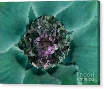 A Sky Full Of Lighters Teal Purple Canvas Print by Holley Jacobs