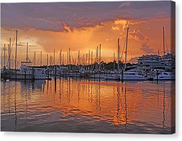 A Sky Full Of Wonder - Florida Sunset Canvas Print by HH Photography of Florida