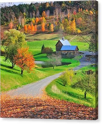 Sleepy Hollow Autumn - Pomfret Vermont Canvas Print