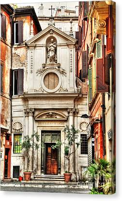 A Small Church In Rome Canvas Print