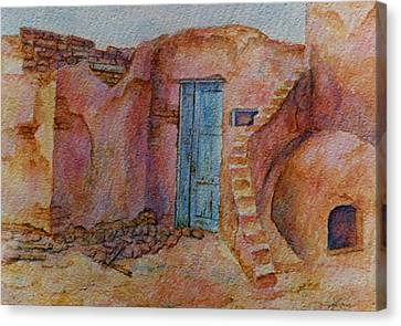 A Small Corner Of Taos Pueblo Canvas Print