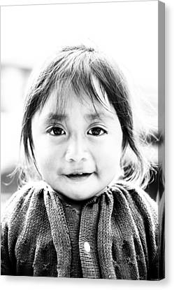 A Small Guatemalam Life - Black And White Canvas Print by Shelby  Young