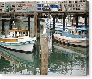 Canvas Print featuring the photograph A Small Harbor by Hiroko Sakai