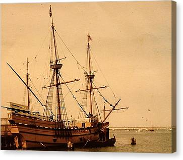 A Small Old Clipper Ship Canvas Print by Amazing Photographs AKA Christian Wilson