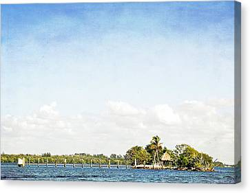 Canvas Print featuring the photograph A Small Piece Of Paradise by Rosemary Aubut